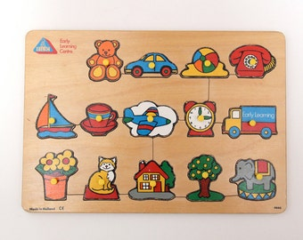 Vintage Early Learning Centre wooden peg jigsaw puzzle