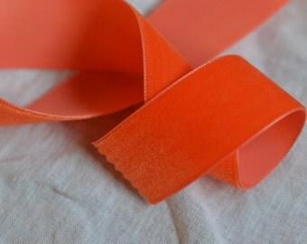 orange velvet ribbon