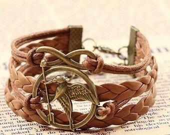 Arrow Bracelet Leather Bracelet Friendship Bracelet Charm Bracelet Infinity Bracelet Gift for her
