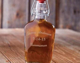 Groomsman 8.5oz Glass Flask (GC1255)