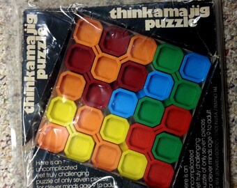 RARE 1974 think a ma jig puzzle Leonard J. Gordon ThinkAMaJig Puzzle