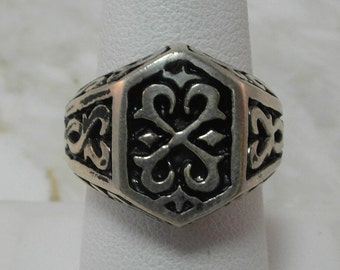Solid Sterling Silver Signet Ring