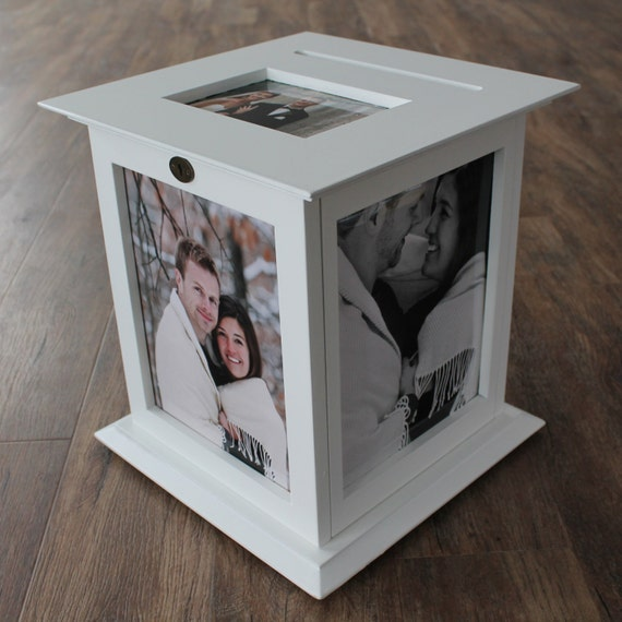 White Photo Display Wedding Card Box With By KellyMarieCollection