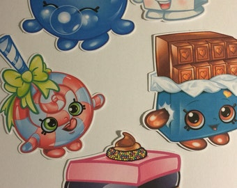 Shopkins Die Cuts Set of 5