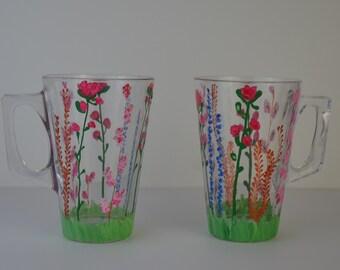 """2 cups """"Le Jardin"""""""