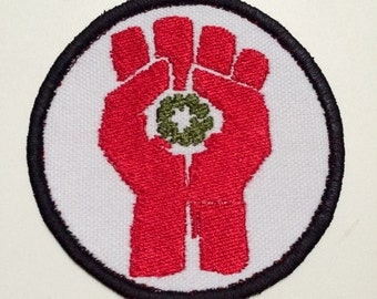 Hunter S Thompson  Fist of Gonzo  Motorcycle Iron On Patch