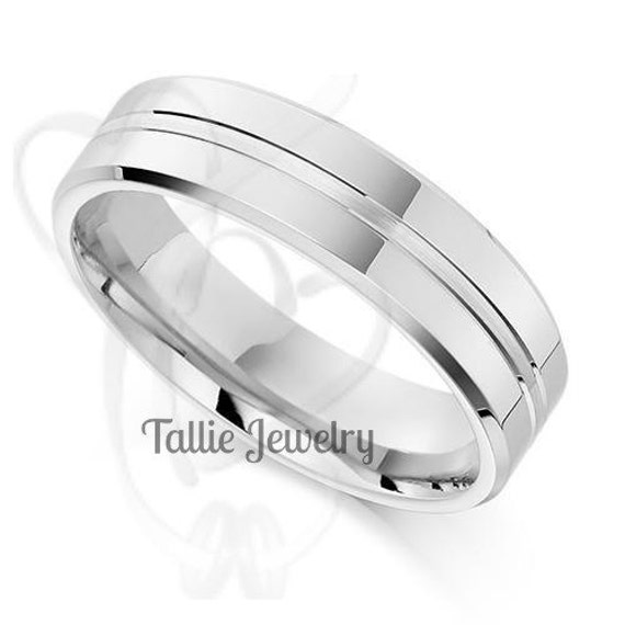 mens 950 platinum wedding band ring 6mm wide sizes 4 12 free engraving
