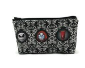 Small Jack Skellington Toiletry Bag, Zipper Pouch, Zippered Pouch, Makeup Bag, Tampon Case, Nightmare Before Christmas Coin Purse