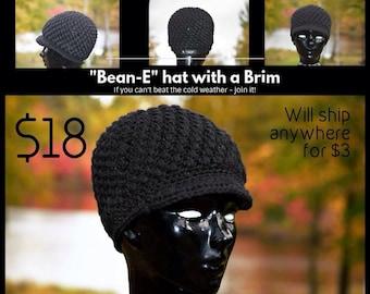 Bean-E Newsboy Hat with a Brim