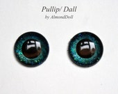 New ooak Pullip, Dal, Taeyang hand painted eye chips no.P116 by AlmondDoll