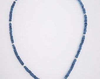 59.26ctw London Blue Topaz Sterling Silver Necklace 19 inch