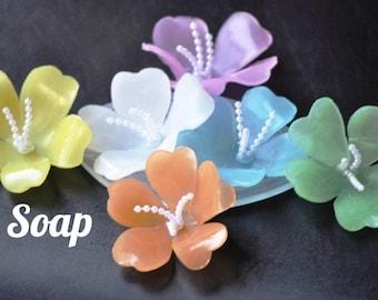 Hawaiian Lei Guest Soaps, Lei Wedding Favor, Baby Shower Favor, Luau Party Favor, Wedding Shower Favor, Bridal Shower Favor Soap