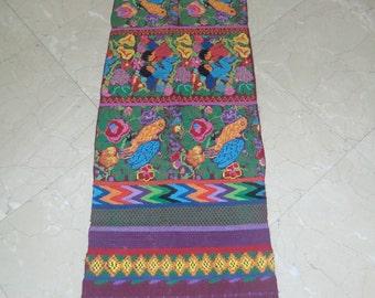 Table runner ,wall hanging,guatemalan handmade embroidary