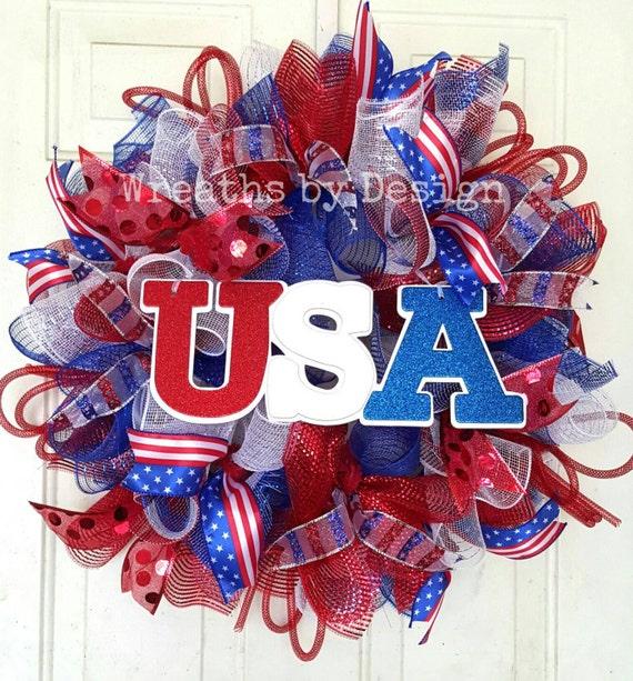 Patriotic Wreath-Memorial Day Wreath USA Door By