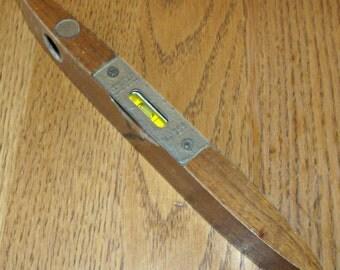 Vintage STANLEY Small Walnut Torpedo Level