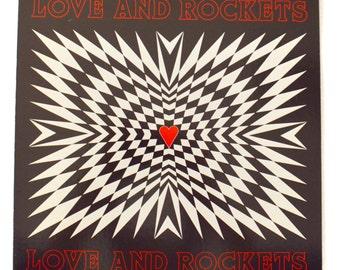 Vintage 80s Love and Rockets Self-Titled Album Record Vinyl LP