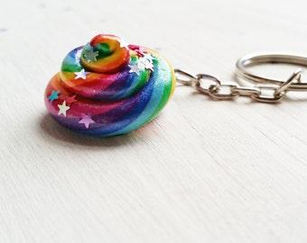 Unicorn Poop Keyring. Rainbow. Unicorn. Glitter. Magical Handmade. Ready to ship