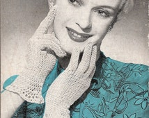 Bestway 2017 - Ladies Crochet Gloves - Vintage 1930s Crochet Pattern Download
