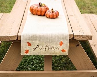 Burlap Table Runner, Table Runner, Fall Table Runner, Autumn