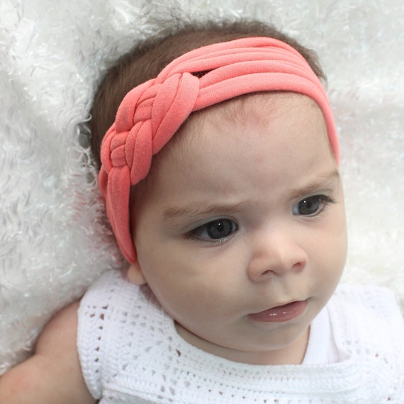 Baby Headbands, Coral Headband, Celtic Knot Headband, Baby Headband, Knot Headband, Newborn Headband, Coral Turban, Newborn Headwrap