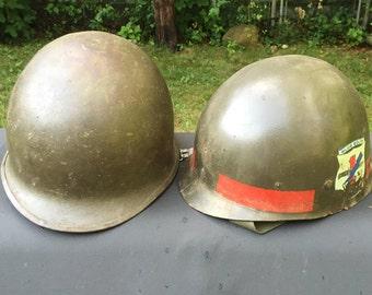 Helmet Early Vietnam Era M1 Combat with Original Liner