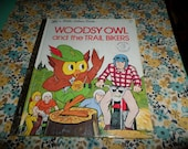 Little Golden Book Woodsy Owl and the Trail Bikers 1976 Environmental Education Give A HOOT