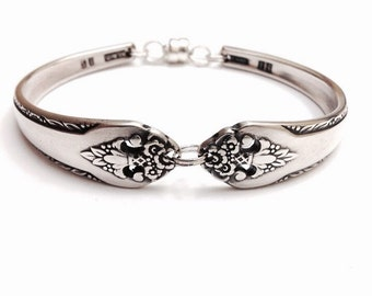 Vintage Silver Spoon Bracelet - circa 1937