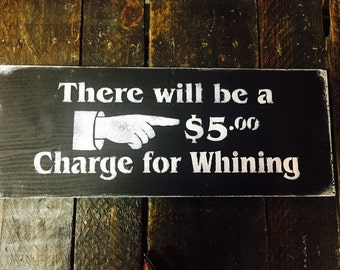6x14 there will be a 5 charge for whining. Stenciled and Handpainted, hung with saw tooth hanger