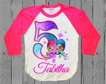 Shimmer and Shine Birthday Shirt