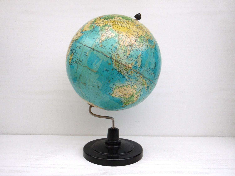 Vintage Desk Earth Globe Mid Century Modern Home Decor
