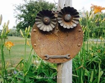 Handmade Repurposed Recycled Owl Rupert Hootenanny