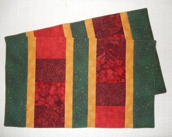 Christmas Colors Patchwork Placemats, Set of Two