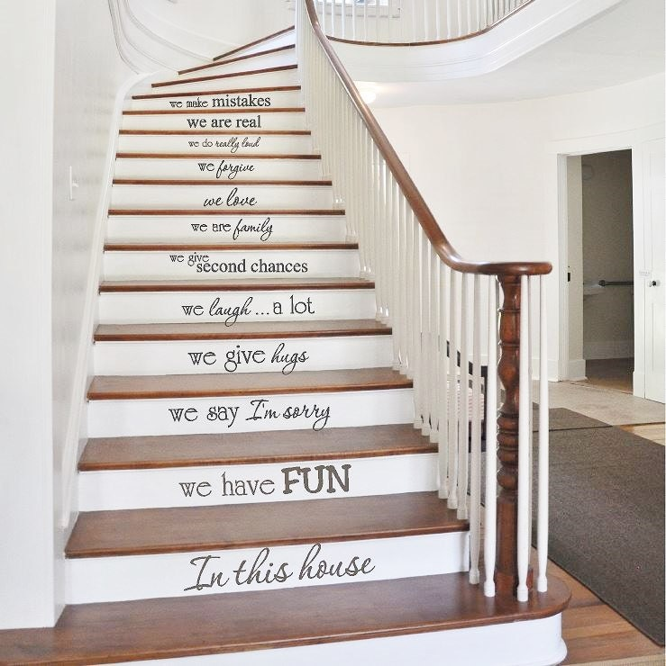 Charming Details. These Stair Riser Decals ...