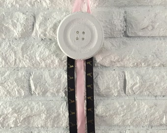 Button Bow Holder