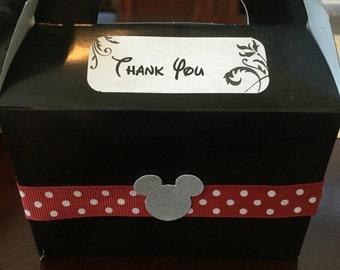 12 Thank you mickey disney treat  favor boxes