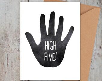 High Five Congrats Card