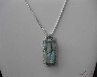 Light Blue Aquamarine Pendant Necklace