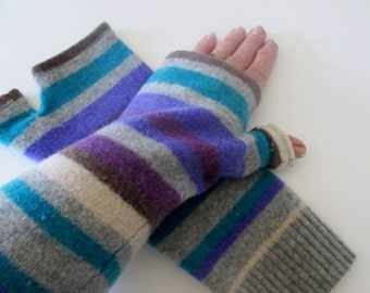 End of season sale. 20% off everything in the store Pure wool fingerless gloves, fingerless mittens, texting gloves knit handwarmer recycled