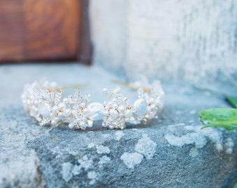 Pearl and Crystal Bridal Hairband