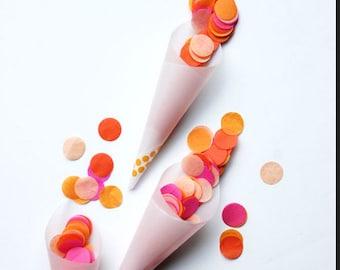 100 translucent Paper Cones, petal cones, food cones, custom cones, wedding toss, tossing, vellum cones, translucent cones