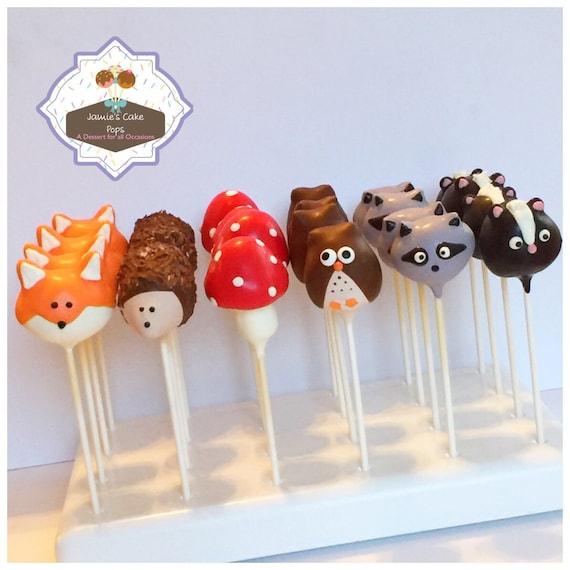Woodland creature cakepops | Baby shower cake pops, Cake pops |Woodland Cake Balls