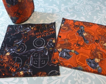 Black Widow Unpaper Towels, reusable paper towels (set of 8)