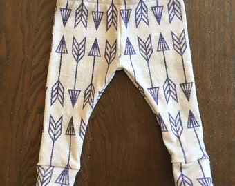 Navy and Grey Arrow Legging in Organic Cotton for Babies and Kids