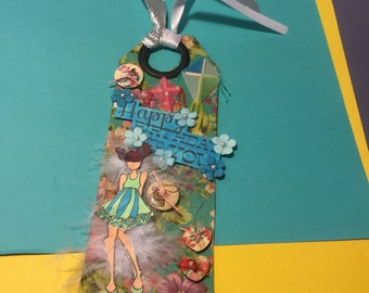 Gift tag, book mark, one of a kind #1