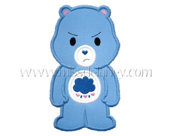 Grumpy Bear - Care Bears Inspired Embroidered Shirt - Kids Embroidered Shirt -