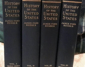 25% Off! Rare Set of James Ford Rhodes 1850 to 1864 History of the US, The Compromise of 1850 Printed in 1900