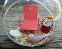 Beach fairy garden, beach sand garden, hanging fairy garden