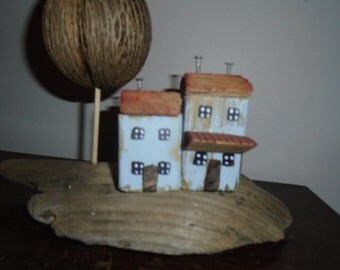 Bleak House - Folk Art Driftwood and Salvaged Pacific Coast Beach Items