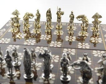 don Quijote chess set / Wooden chess board (36X36)
