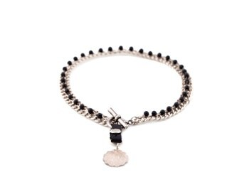 silver choker,special gormet choker,onyx stones,leather,coin pendant,rhodium plated,handmade choker,rocker choker